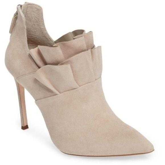 Pour la Victoire Shoes - Pour La Victoire 'Cedra' ruffle bootie
